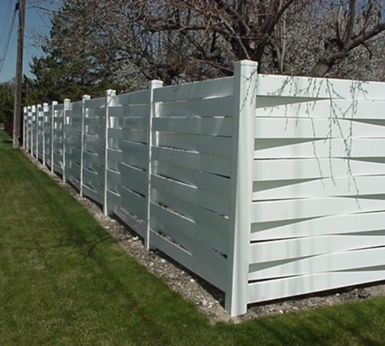 AFC Rochester, Vinyl Fencing, Basket Weave 750