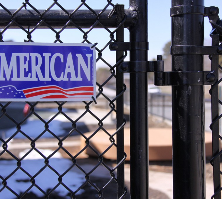 AFC Rochester - Chain Link Fencing, Black Vinyl Chain Link Gate