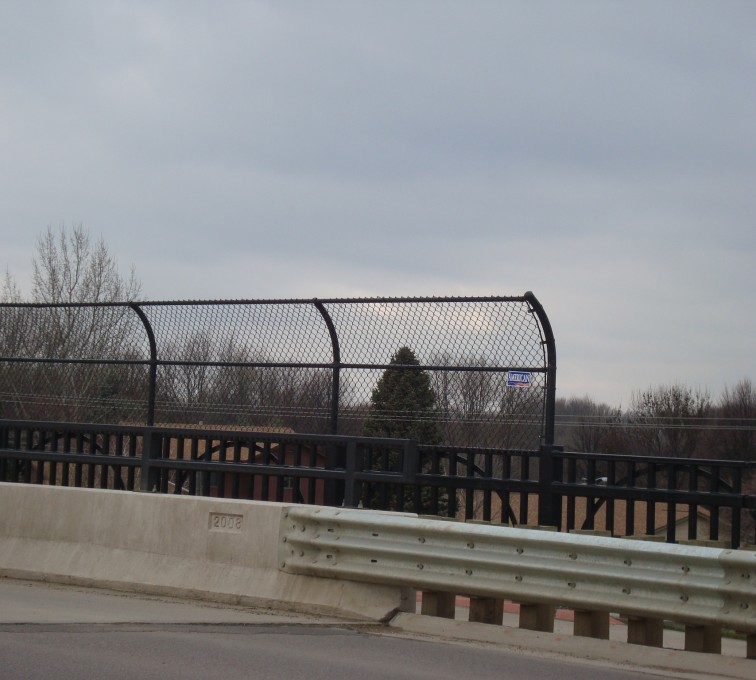 AFC Rochester - Chain Link Fencing, Black Vinyl Chain Link Pedestrian Canopy AFC, SD