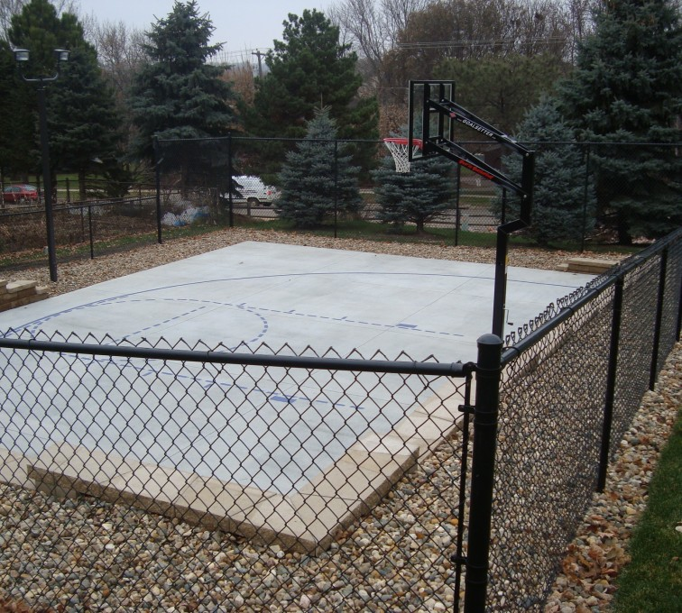 AFC Rochester - Sports Fencing, Black Vinyl Chain Link Sport Court AFC, SD