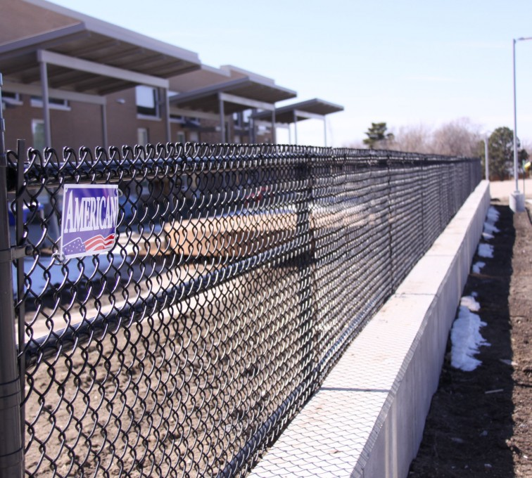 AFC Rochester - Chain Link Fencing, Black Vinyl Chain Link Track Fence