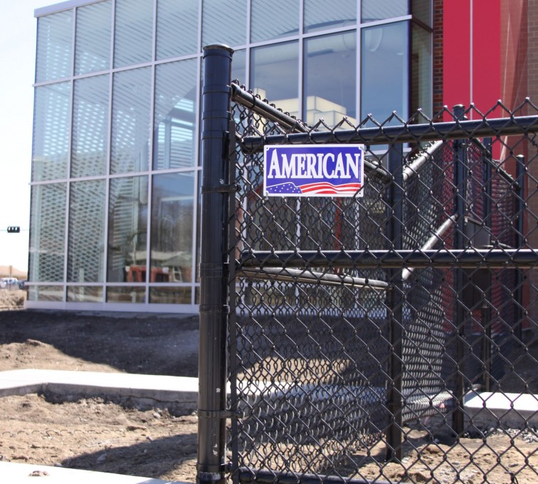 AFC Rochester - Chain Link Fencing, Black vinyl chain link