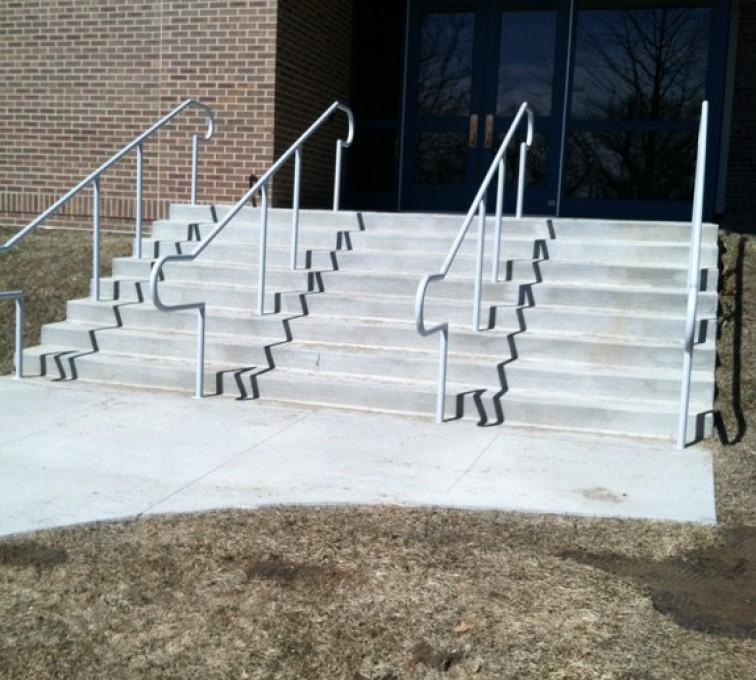AFC Rochester - Custom Railing, Custom Galvanized Handrail 3 - AFC - IA
