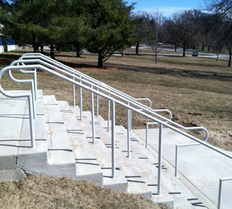 AFC Rochester - Custom Railing, Custom Galvanized Handrail 4 - AFC - IA
