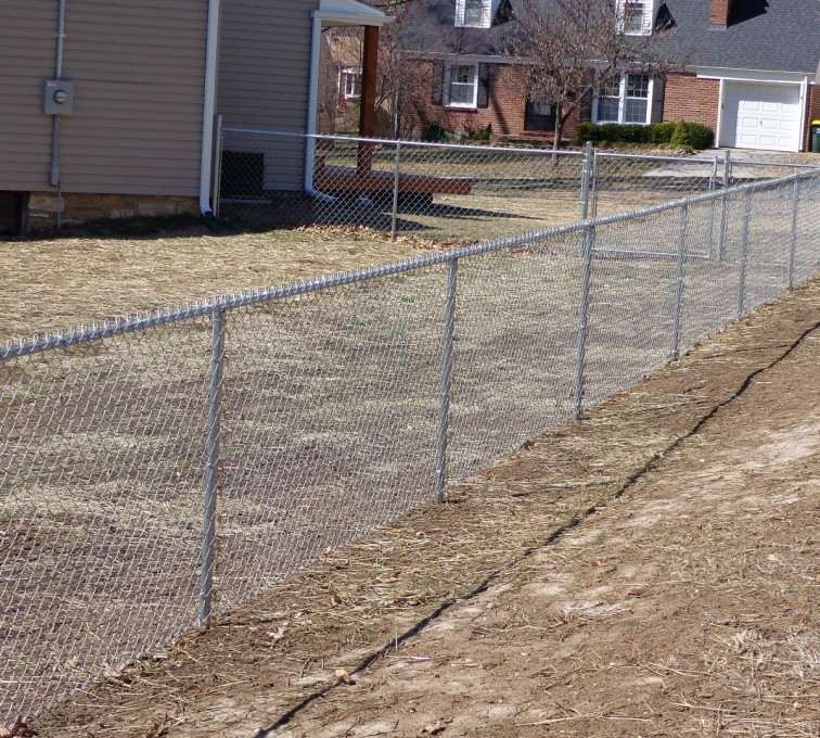 AFC Grand Island - Chain Link Fencing, 4' Galvanized Chain Link - AFC-KC