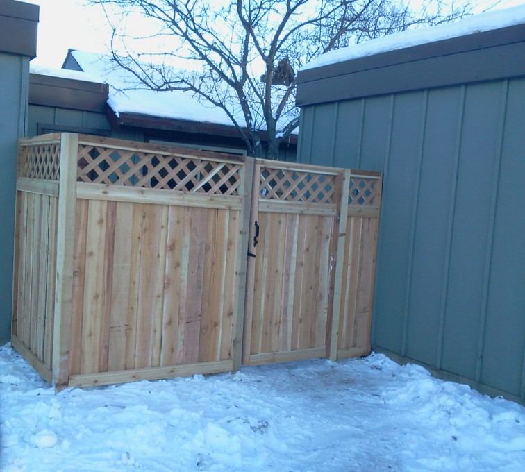 Rochester Fence Company - Wood Fencing, Custom Wood Privacy with Lattice AFC, SD