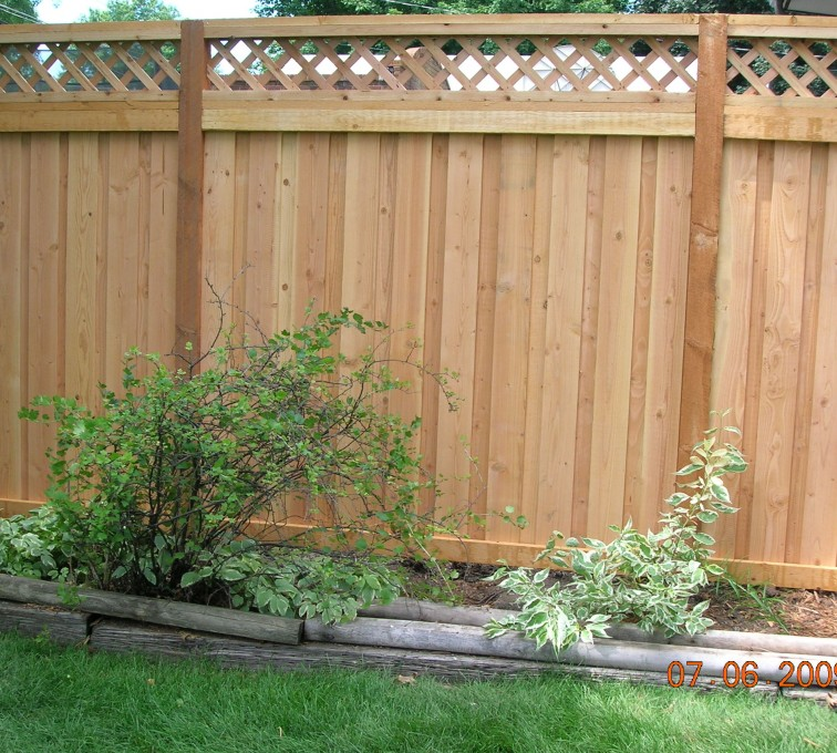Rochester Fence Company - Wood Fencing, Custom with Lattice-A