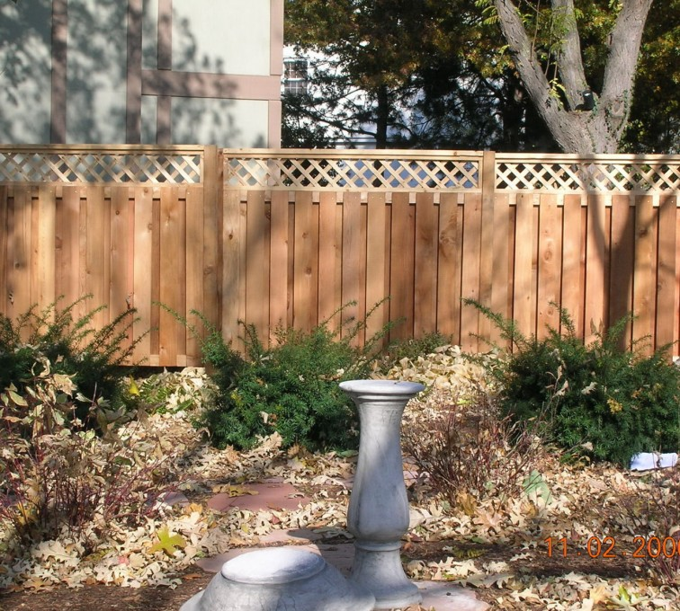 Rochester Fence Company - Wood Fencing, Custom with lattice