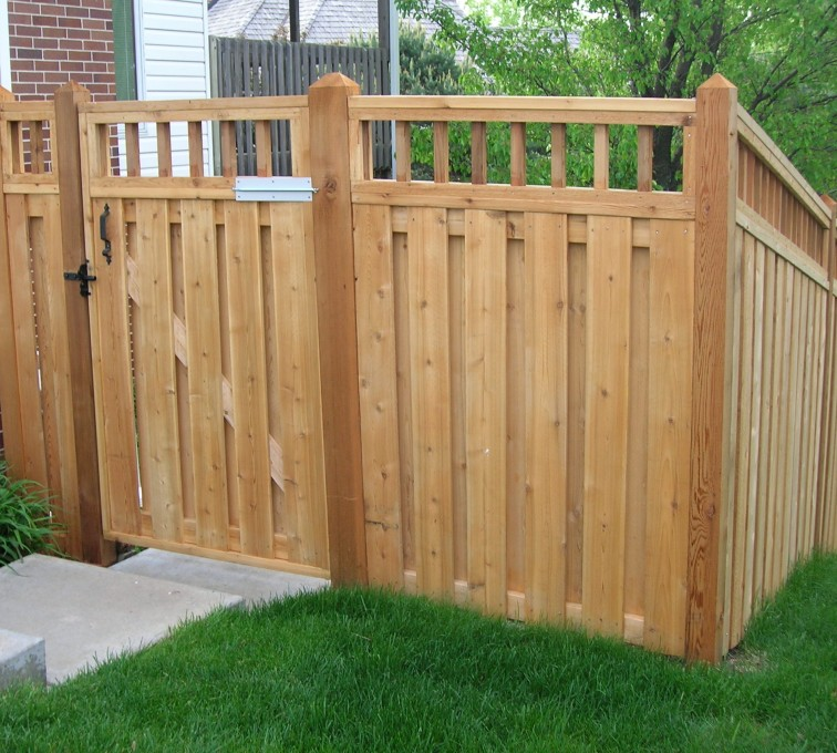 AFC Rochester - Wood Fencing, Custom with wood picket accent