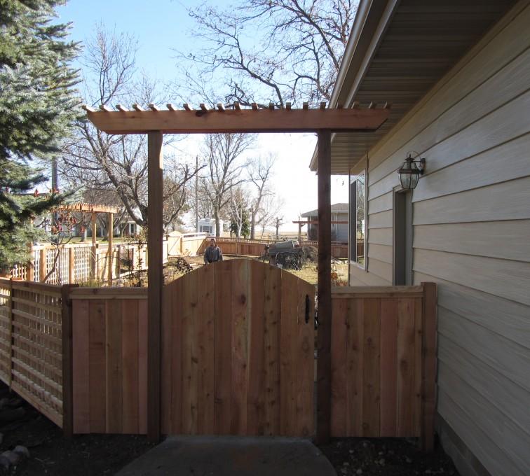 AFC Rochester - Wood Fencing, Decorative Cedar Gate AFC, SD