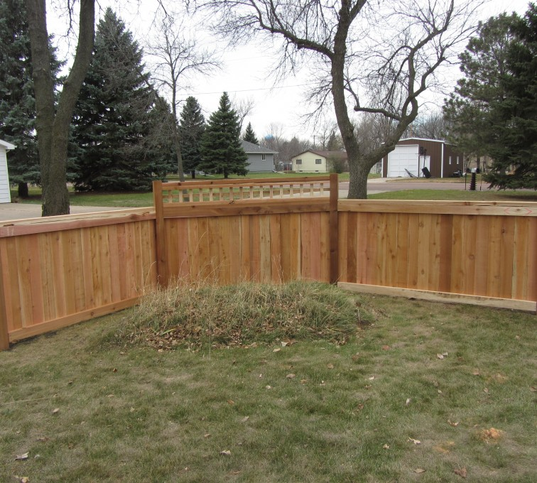 AFC Rochester - Wood Fencing, Decorative Cedar Privacy with Picket Accent AFC, SD