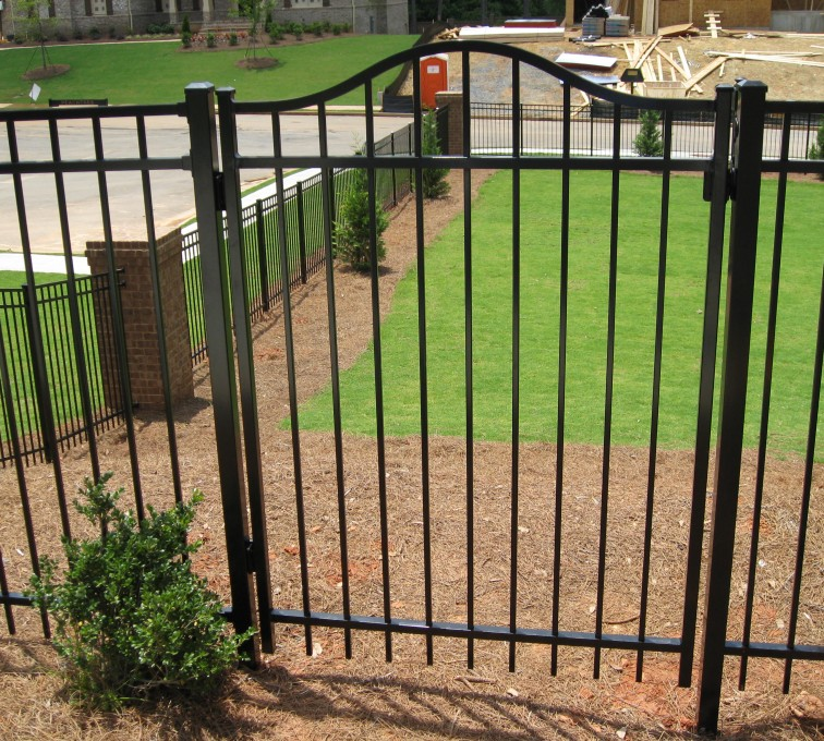 AFC Rochester - American Ornamental Fencing, Flat Top with Arched gate