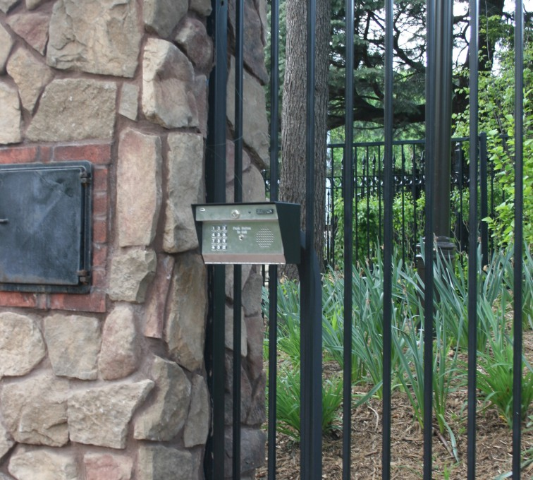 AFC Rochester - Custom Gates, Estate Telephone Entry, Column and Postal Box