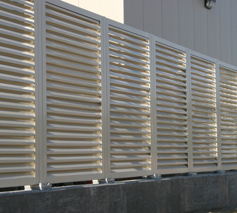 AFC Rochester - Louvered Fence Systems Fencing, Louvered Fence Panel System In Tan