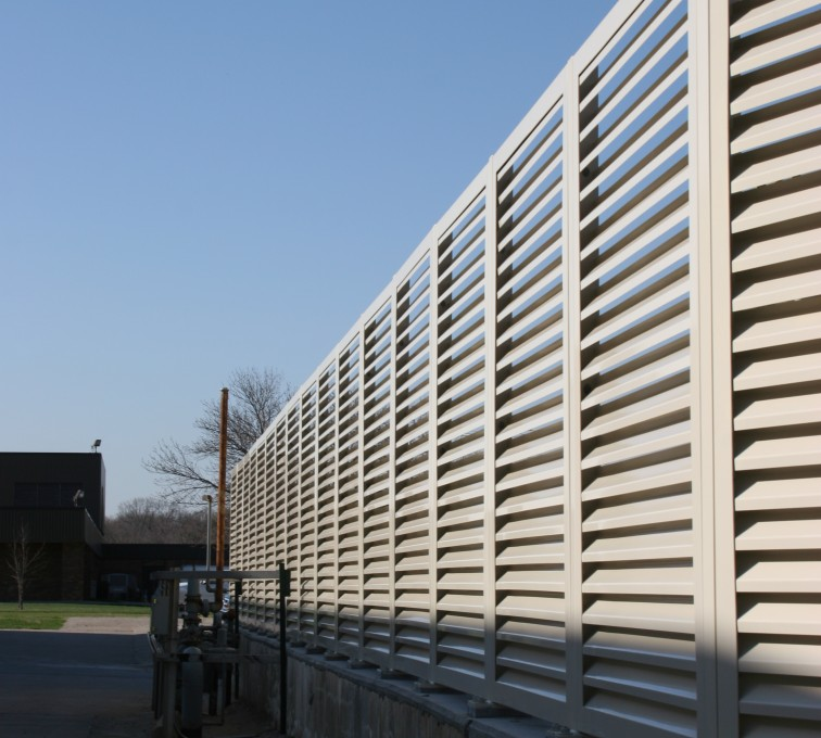 AFC Rochester - Louvered Fence Systems Fencing, Louvered Fence Panel Top Cap