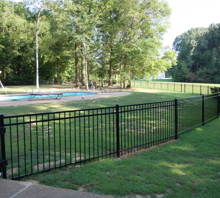 AFC Rochester - American Ornamental Fencing, Flat Top @ pool