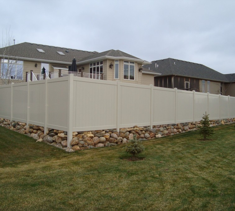 AFC Rochester - Vinyl Fencing, Solid Privacy - Sandstone