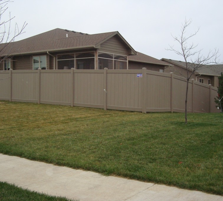 AFC Rochester - Vinyl Fencing, Solid Privacy - Woodland Select