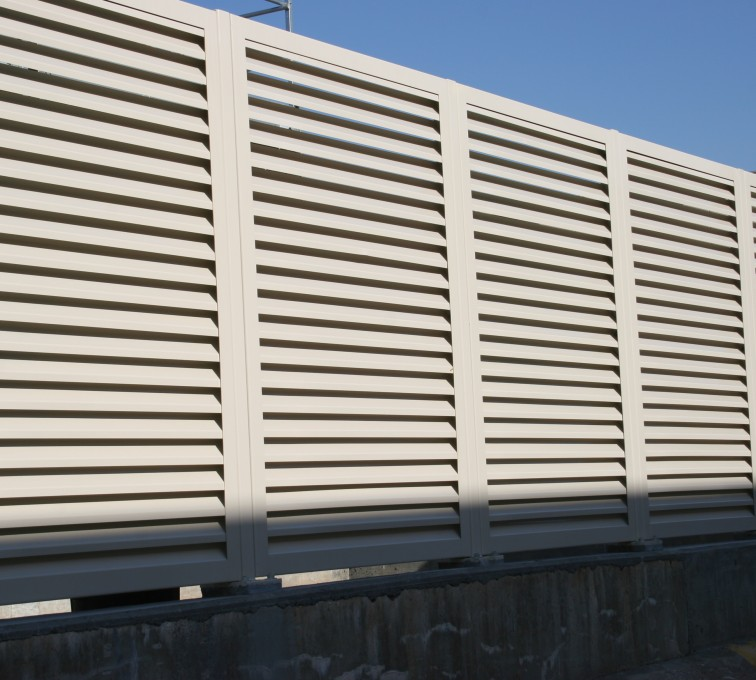 AFC Rochester - Louvered Fence Systems Fencing, Steel Louvered Fence System