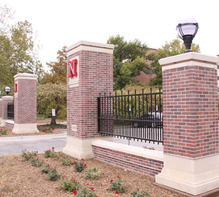 AFC Rochester - Custom Iron Gate Fencing, University of Nebraska East Entrance