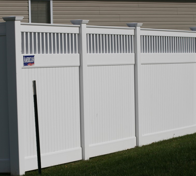 AFC Rochester - Vinyl Fencing, Vinyl 6' private with picket accent 708