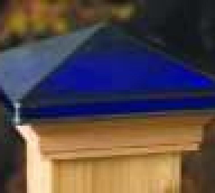 Rochester Minnesota Fence Company - Accessories, Decorative Glass Cedar Fence Post Cap