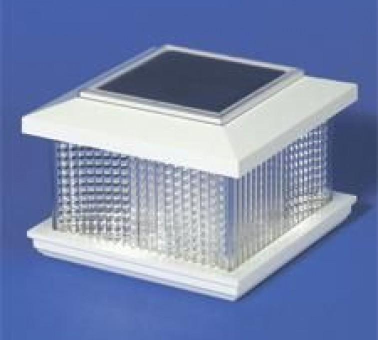 Rochester Minnesota Fence Company - Accessories, Solar Cap Vinyl Posts