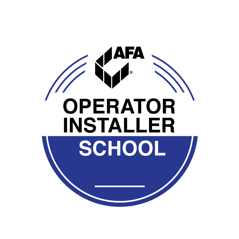 AFA's logo for their gate operator installer school